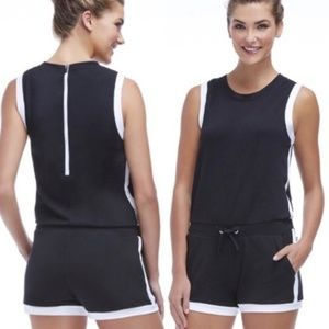 Fabletics Lakeside Romper Size M Shorts Zip Back